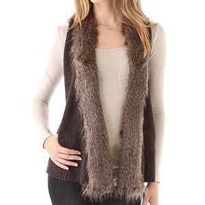 Ella Moss Faux Fur Sweater Vest